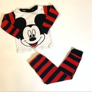 Disney's Mickey Mouse Long Sleeves Pajamas (4T)